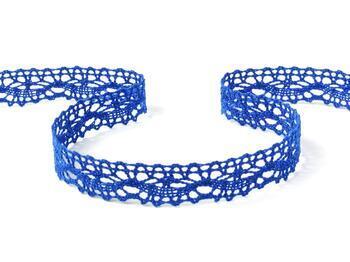 Cotton bobbin lace 75395, width 16 mm, royal blue - 4