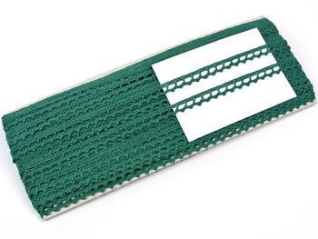 Paličkovaná krajka vzor 75397 tmavě zelená | 30 m - 4