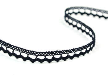 Bobbin lace No. 75397 black | 30 m - 4