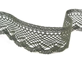 Bobbin lace No. 75414 dark olive | 30 m - 4