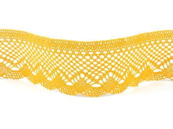 Paličkovaná krajka vzor 75414  tmavě žlutá | 30 m - 4