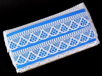 Paličkovaná krajka vzor 75453 bílá | 30 m - 4