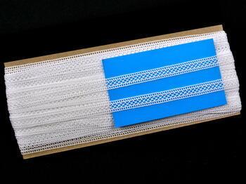 Paličkovaná vsadka vzor 75454 bílá | 30 m - 4