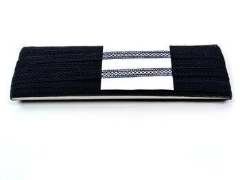 Paličkovaná vsadka vzor 75454 černá | 30 m - 4