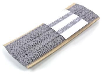 Paličkovaná vsadka vzor 75454 šedá | 30 m - 4