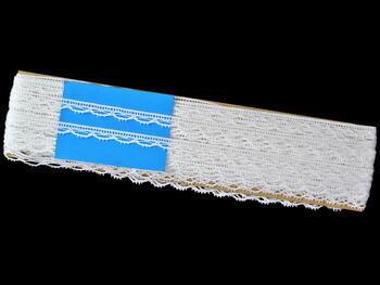 Paličkovaná krajka vzor 75465 bílá | 30 m - 4
