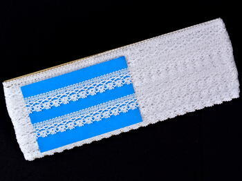 Paličkovaná krajka vzor 75499 bílá | 30 m - 4