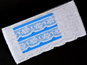Paličkovaná krajka vzor 75506 bílá | 30 m - 4