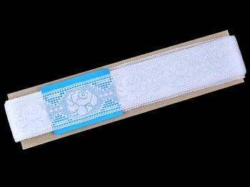 Paličkovaná vsadka vzor 75513 bílá | 30 m - 4