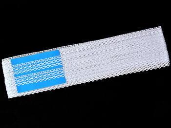 Paličkovaná krajka vzor 75523 bílá | 30 m - 4