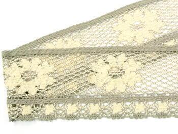 Bobbin lace No. 75533 ecru/dark lien | 30 m - 4
