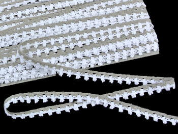Bobbin lace No. 75535 white/dark linen | 30 m - 4