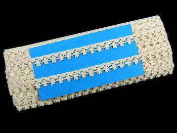 Paličkovaná krajka vzor 75535 režná | 30 m - 4