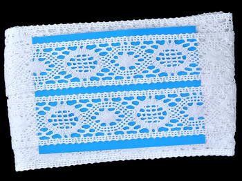Bobbin lace No. 75572 white | 30 m - 4