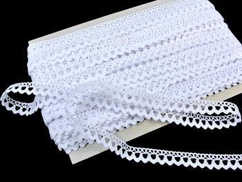 Paličkovaná krajka vzor 75604 bílá | 30 m - 4