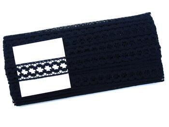 Bobbin lace No. 75619 blackblue | 30 m - 4