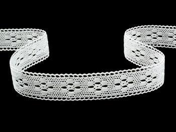 Paličkovaná krajka vzor 75622 bílá | 30 m - 4