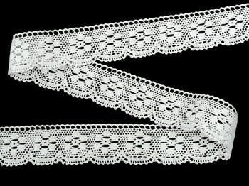 Bobbin lace No. 75623 white | 30 m - 4