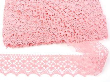 Paličkovaná krajka vzor 75625 růžová | 30 m - 4