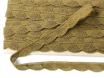 Bobbin lace No. 75629 khaki | 30 m - 4