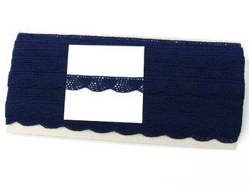 Paličkovaná krajka vzor 75629 tmavě modrá | 30 m - 4