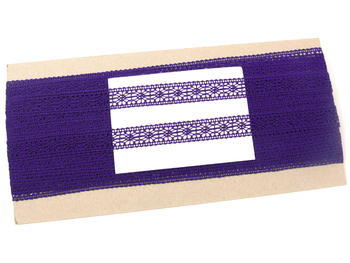 Paličkovaná vsadka vzor 81031 purpurová | 30 m - 4