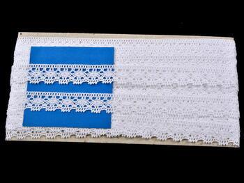 Paličkovaná krajka vzor 81041 bílá | 30 m - 4