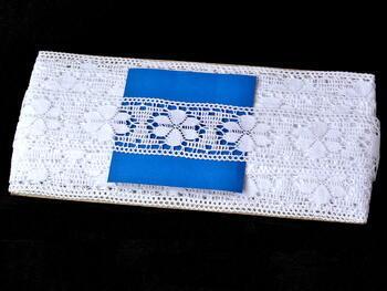 Paličkovaná vsadka vzor 81043 bílá | 30 m - 4