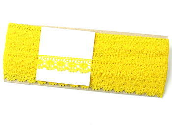 Paličkovaná krajka vzor 81050 žlutá | 30 m - 4