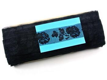 Paličkovaná vsadka vzor 81093 černá | 30 m - 4