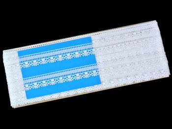 Paličkovaná krajka vzor 81217 bílá | 30 m - 4