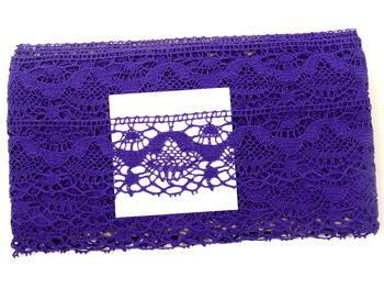 Paličkovaná krajka vzor 81289 purpurová | 30 m - 4