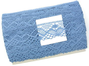 Paličkovaná krajka vzor 81294 blankytně modrá | 30 m - 4