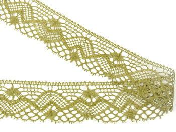Bobbin lace No. 81294 khaki | 30 m - 4