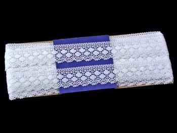 Paličkovaná krajka vzor 81299 bílá | 30 m - 4