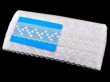 Paličkovaná krajka vzor 81301 bílá | 30 m - 4