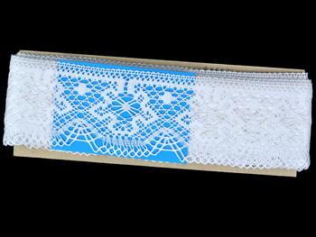 Paličkovaná krajka vzor 81657 bílá | 30 m - 4
