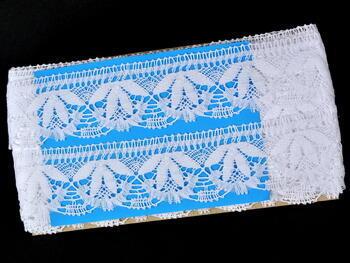 Paličkovaná krajka vzor 81681 bílá | 30 m - 4