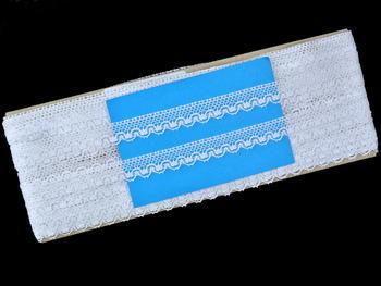 Paličkovaná krajka vzor 81783 bílá   30 m - 4