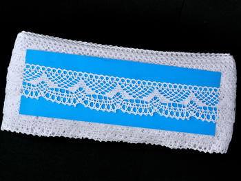 Bobbin lace No. 81847 white | 30 m - 4