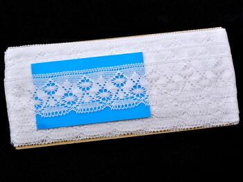 Paličkovaná krajka vzor 82025 bílá | 30 m - 4