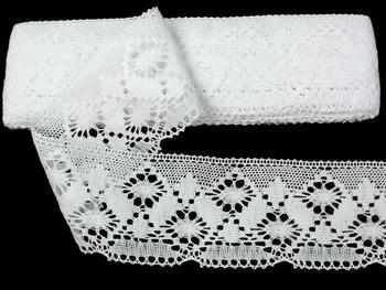 Bobbin lace No. 82027 white | 30 m - 4