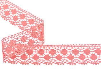 Paličkovaná krajka vzor 82099 starorůžová | 30 m - 4