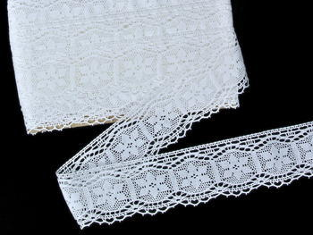 Bobbin lace No. 82109 white | 30 m - 4