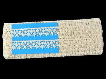 Paličkovaná krajka vzor 82119 režná | 30 m - 4