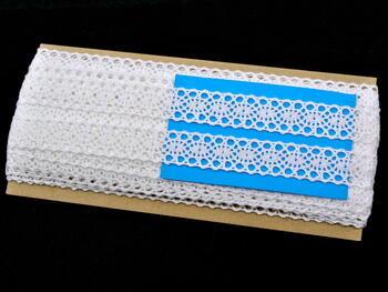 Paličkovaná vsadka vzor 82163 bílá | 30 m - 4