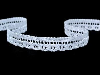 Paličkovaná krajka vzor 82184 bílá | 30 m - 4