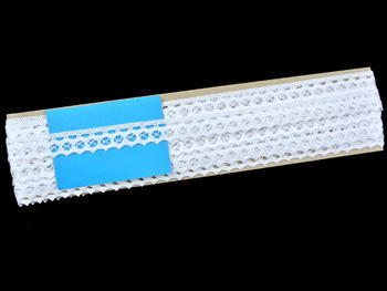 Paličkovaná krajka vzor 82188 bílá | 30 m - 4