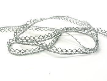 Paličkovaná krajka vzor 82195 stříbrná | 30 m - 4