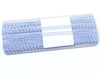 Paličkovaná krajka vzor 82195 světle modrá | 30 m - 4
